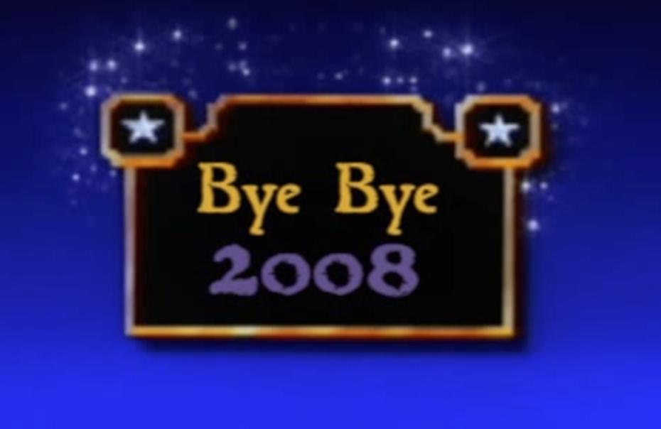 Bye bye 2008