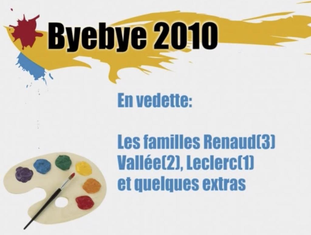 Bye bye 2010 no 1